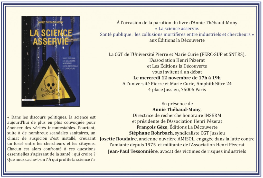 Invitation La science asservie
